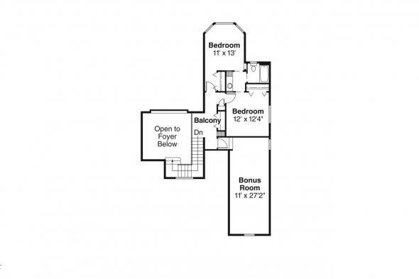 European House Plan - Edmonton 30-342 - 2nd Floor Plan