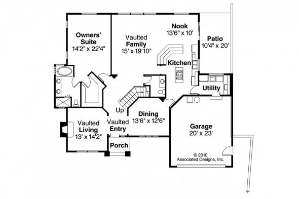 European House Plan - Lakeside 10-551 - 1st Floor Plan