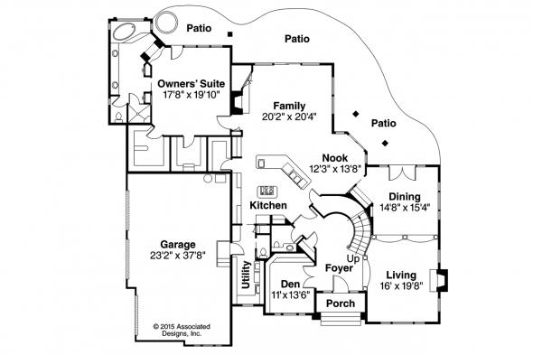 European House Plan - Macleod 30-120 - 1st Floor Plan