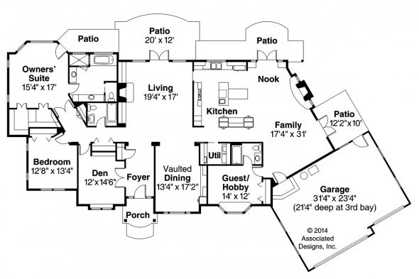European House Plan - Macon 30-229 - Floor Plan