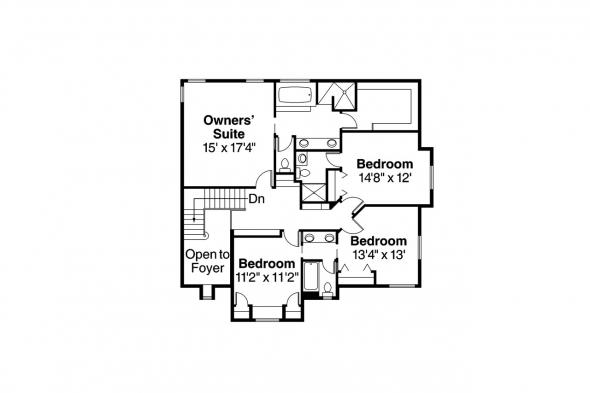European House Plan - Marseille 30-421 - 2nd Floor Plan