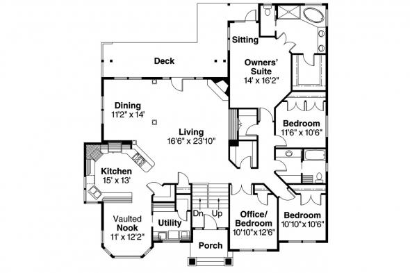European House plan - Pennington 30-602 - Main Floor Plan
