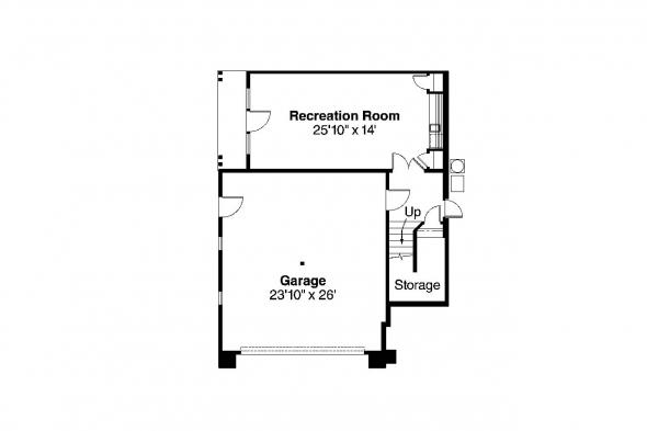 European House plan - Pennington 30-602 - Basement Floor Plan