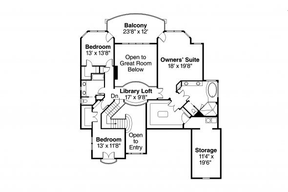 European House Plan - Reynolds 30-396 - Second Floor Plan