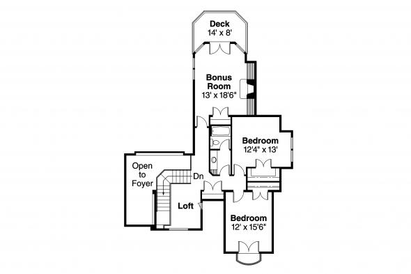 European House Plan - Southwick 30-482 - 2nd Floor Plan