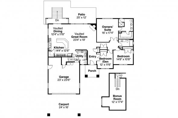 European House Plan - Stonechase 11-133 - Floor Plan