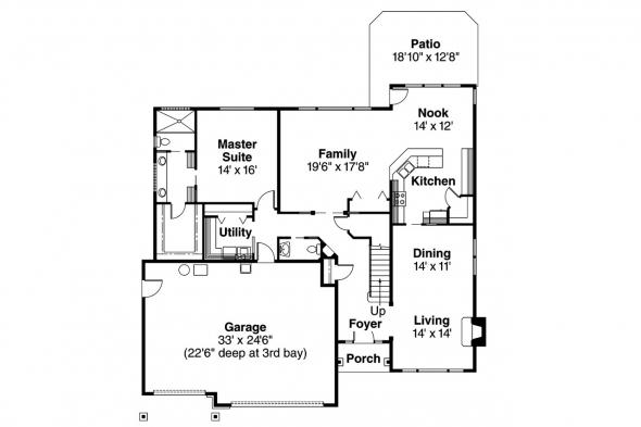 European House Plan - Tamarack 30-426 - 1st Floor Plan