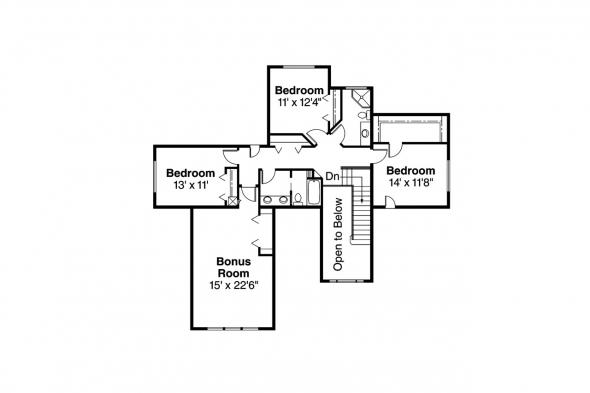 European House Plan - Tamarack 30-426 - 2nd Floor Plan