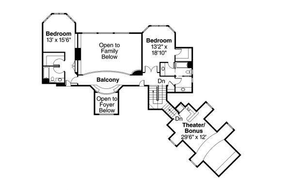 European House Plan - Vidalia 30-134 - 2nd Floor Plan