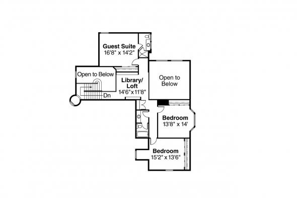 European House Plan - Wilshire 10-031 - 2nd Floor Plan
