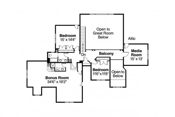 European House Plan - Yorkshire 30-505 - 2nd Floor Plan