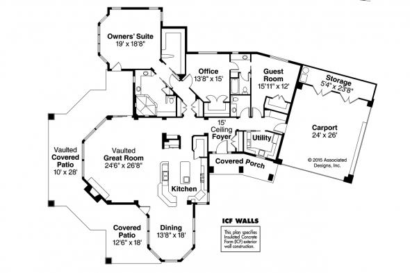 Florida House Plan - Burnside 30-657 - Floor Plan