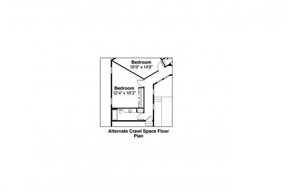 Florida House Plan - Sonora 10-533 - Alternate Crawl Space Option