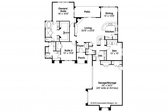 Florida House Plan - Suncrest 30-499 - Floor Plan