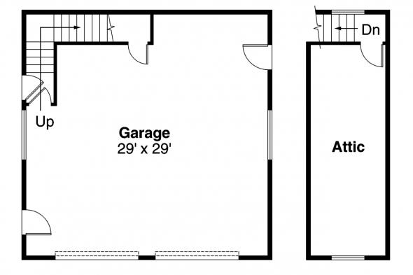 Garage Plan 20-005 - Floor Plan
