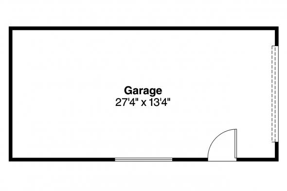Garage Plan 20-004 - Floor Plan