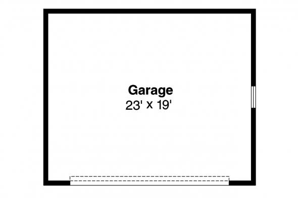 Garage Plan 20-010 - Floor Plan