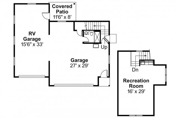 Garage Plan 20-022 - Floor Plan