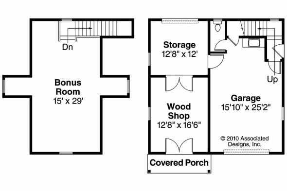 Garage Plan 20-024 - Floor Plan