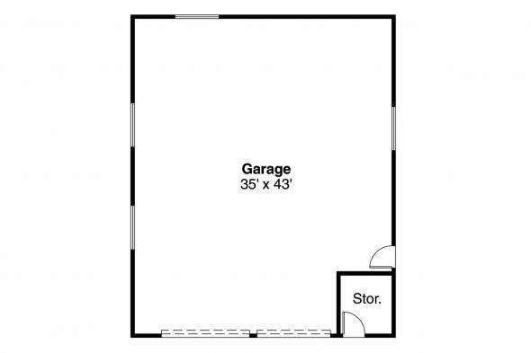 Garage Plan 20-027 - Floor Plan