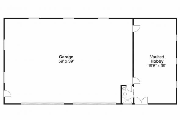 Garage Plan 20-037 - Floor Plan