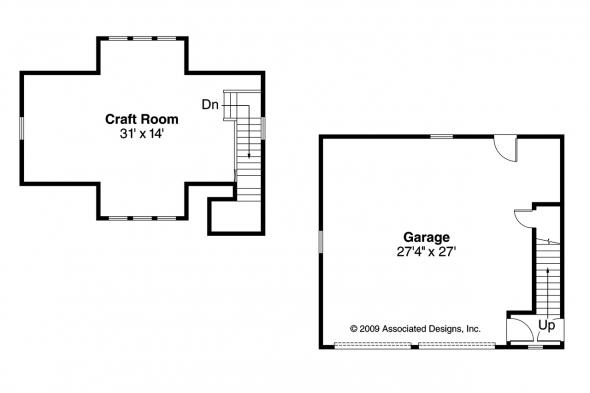 Garage Plan 20-049 - Floor Plan