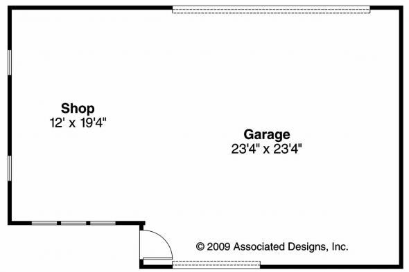 Garage Plan 20-056 - Floor Plan