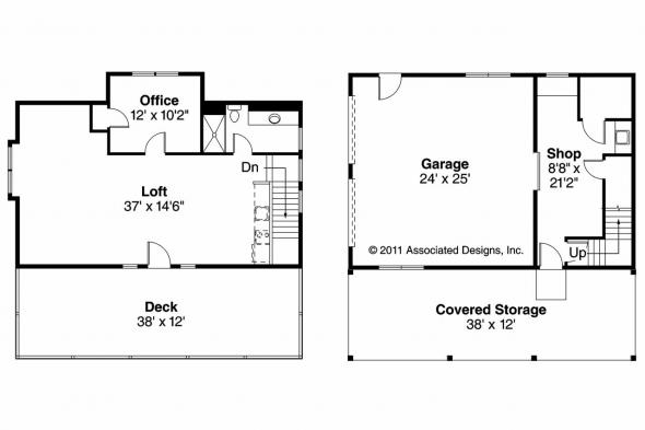 Garage Plan 20-061 - Floor Plan