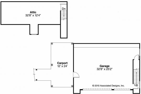 Garage Plan 20-074 - Floor Plan