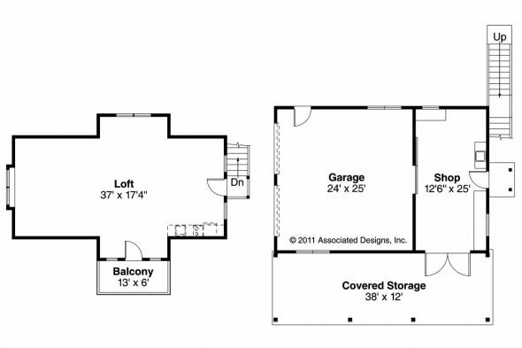 Garage Plan 20-077 - Floor Plan