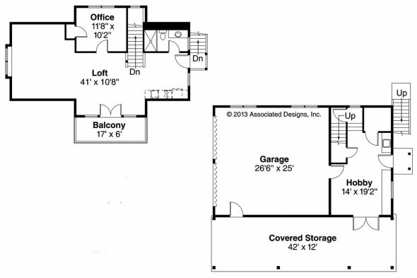 Garage Plan 20-080 - Floor Plan