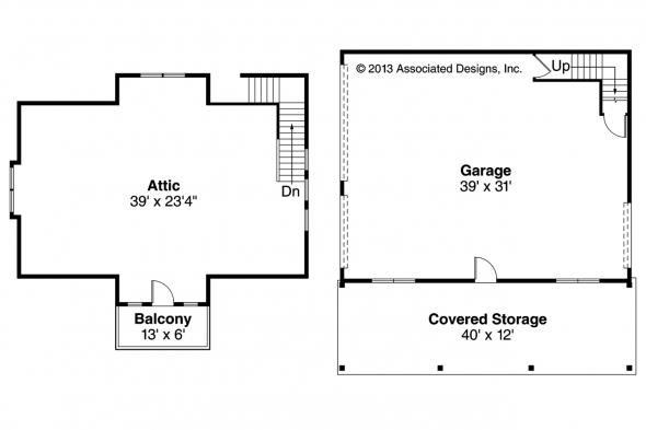 Garage Plan 20-099 - Floor Plan