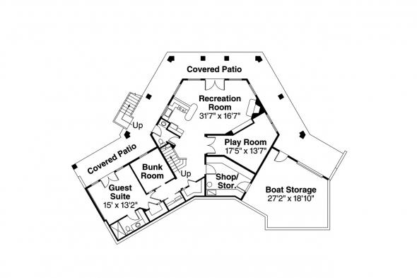 Georgian House Plan - Alder Springs 10-549 - Daylight Basement Floor Plan