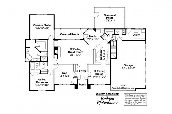Georgian House Plan - Ingraham 42-016 - Floor Plan