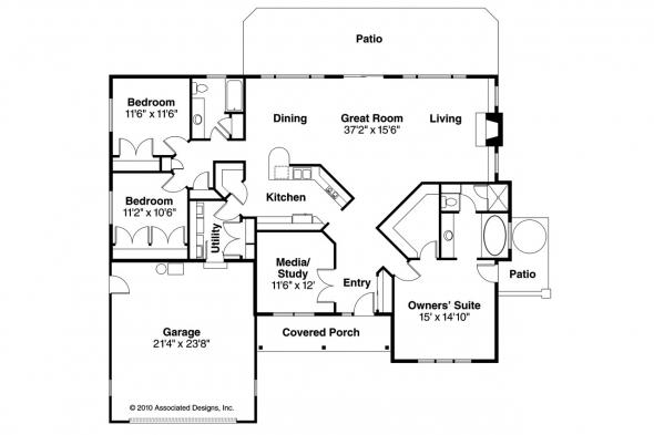 Georgian House Plan - Lewiston 30-053 - Floor Plan