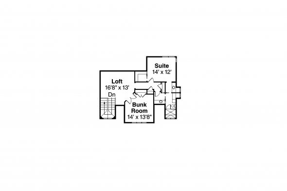 Lodge Style House Plan - Barnhart 30-946 - Second Floor Plan