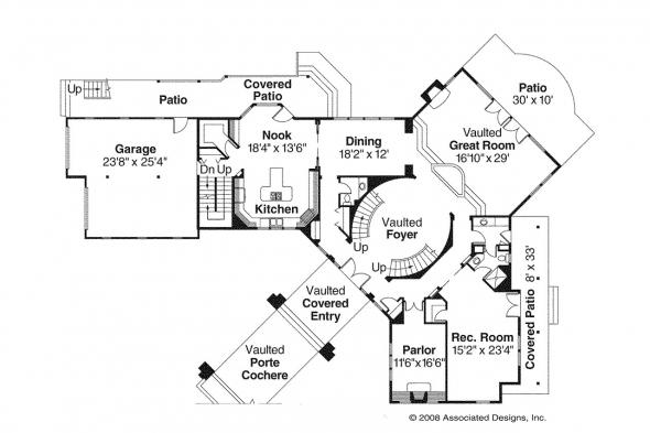 Lodge Style House Plan - Bentonville 30-275 - 1st Floor Plan