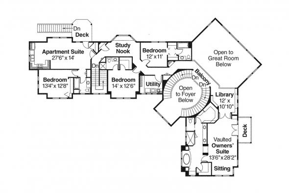 Lodge Style House Plan - Bentonville 30-275 - 2nd Floor Plan