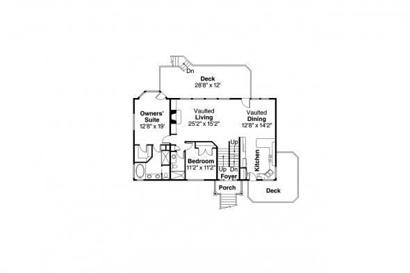 Lodge Style House Plan - Catkin 30-152 - Main Floor Plan