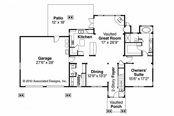 Lodge Style House Plan - Grand River 30-754 - 1st Floor Plan