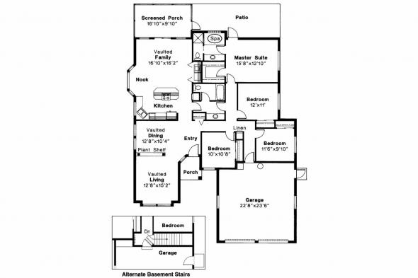 Mediterranean House Plan - Alessandro 11-077 - Floor Plan