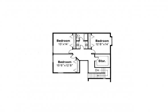 Mediterranean House Plan - Amherst 11-030 - 2nd Floor Plan