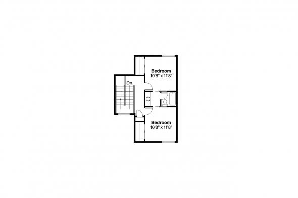 Mediterranean House Plan - Cortez 11-011 - 2nd Floor Plan