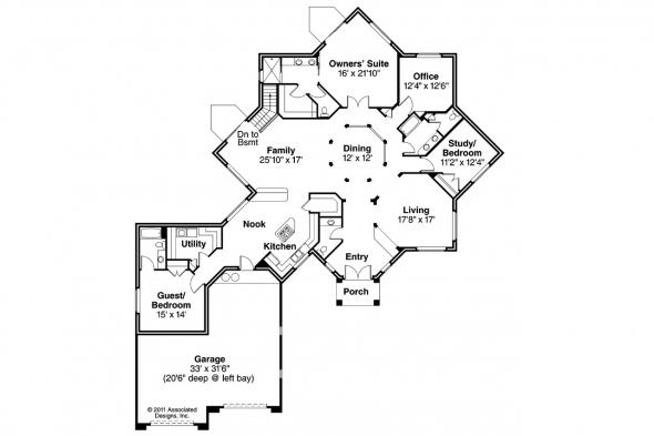 Mediterranean House Plan - Flora Vista 10-546 - Floor Plan