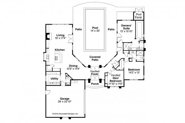 Mediterranean House Plan - Jacobson 30-397 - Floor Plan