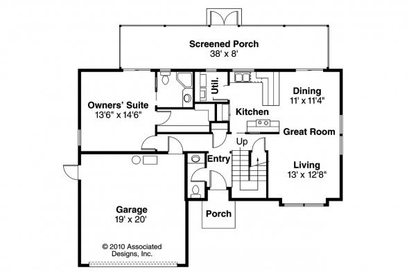 Mediterranean House Plan - Malibu 11-054 - 1st Floor Plan