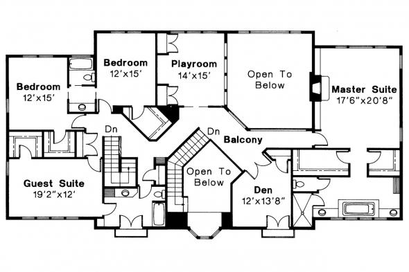 Mediterranean House Plan - Moderna 30-069 - 2nd Floor Plan