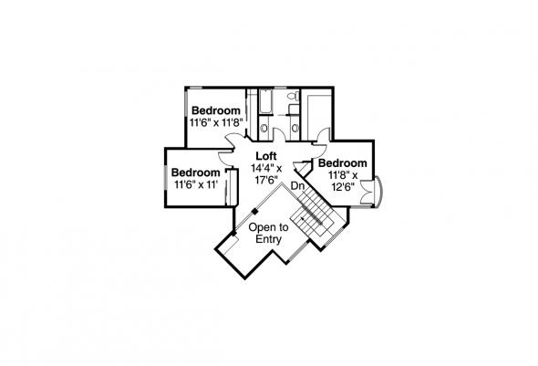 Mediterranean House Plan - Pasadena 11-140 - Second Floor Plan