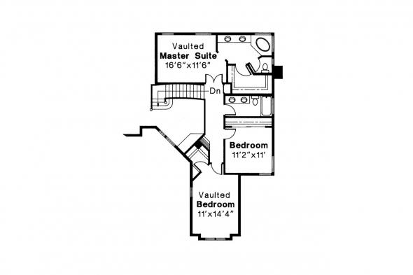 Mediterranean House Plan - Santa Clara 50-003 - 2nd Floor Plan
