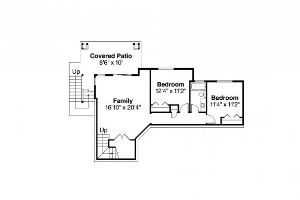 Prairie Style House Plan - Hood River 30-947 - Daylight Basement Floor Plan